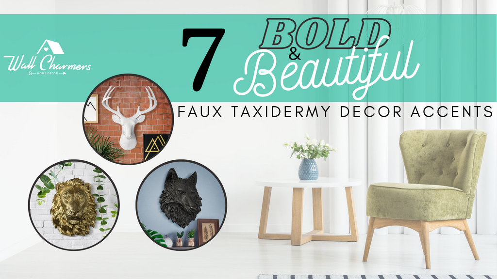 7 Bold & Beautiful Faux Taxidermy Decor Accents