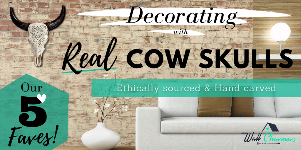 Decorating with Real Cow Skulls - Our 5 Faves!