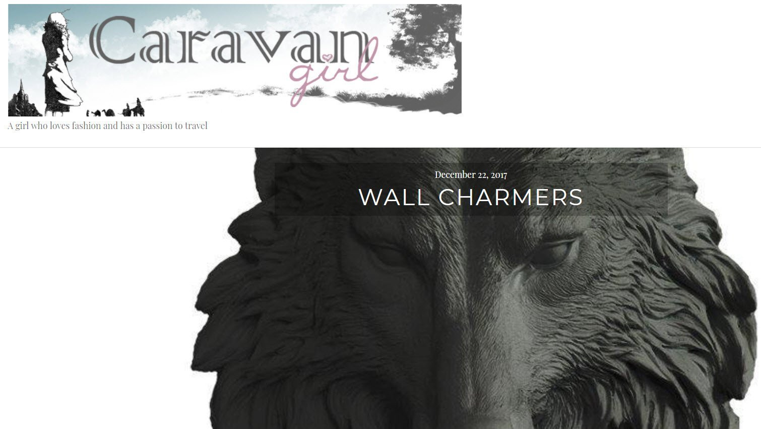 Wall Charmers Decor featured in Caravan Girl