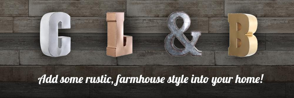 Introducing.... our NEW Farmhouse Style Decor line!!