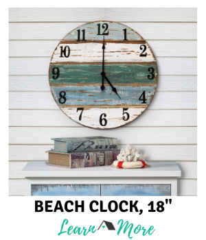 18 inch beach farmhouse clock