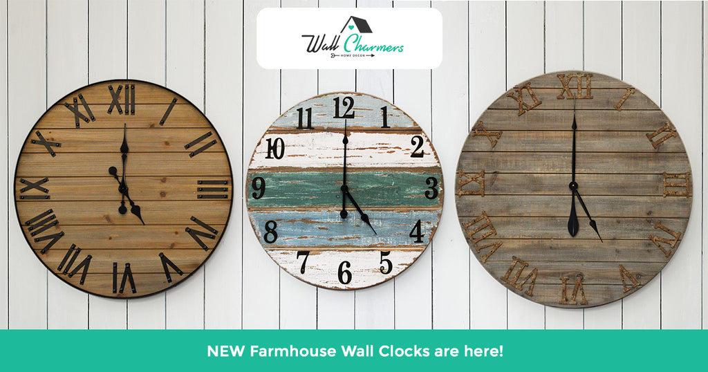 Our NEW Rustic Famrhouse Wall Clocks are here!