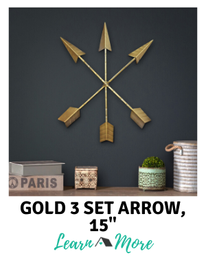 Gold arrow wall decor