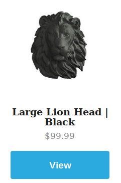 Large Black Lion
