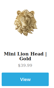 Mini Gold Lion