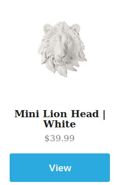 Mini White Lion