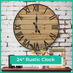 24 inch Rustic wall clock