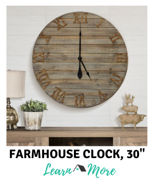 farmhouse clock 30 inch