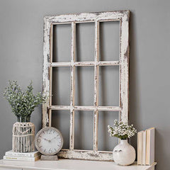 Rustic Farmhouse Wall Window Pane