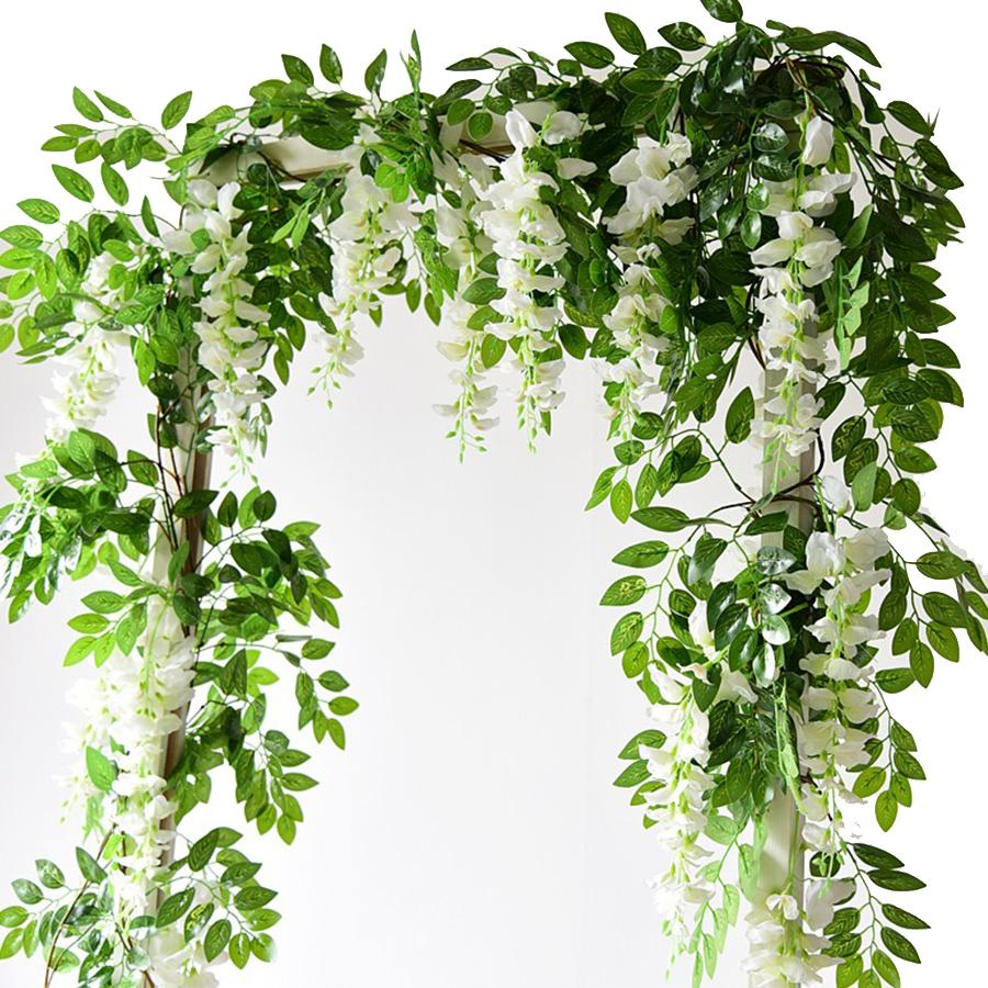 Long Hanging Wisteria Faux Plant