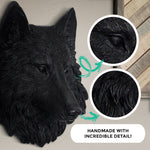 Faux wolf, faux wolf head, mini wolf head, fake wolf head, animal head wall mount, farmhouse decor