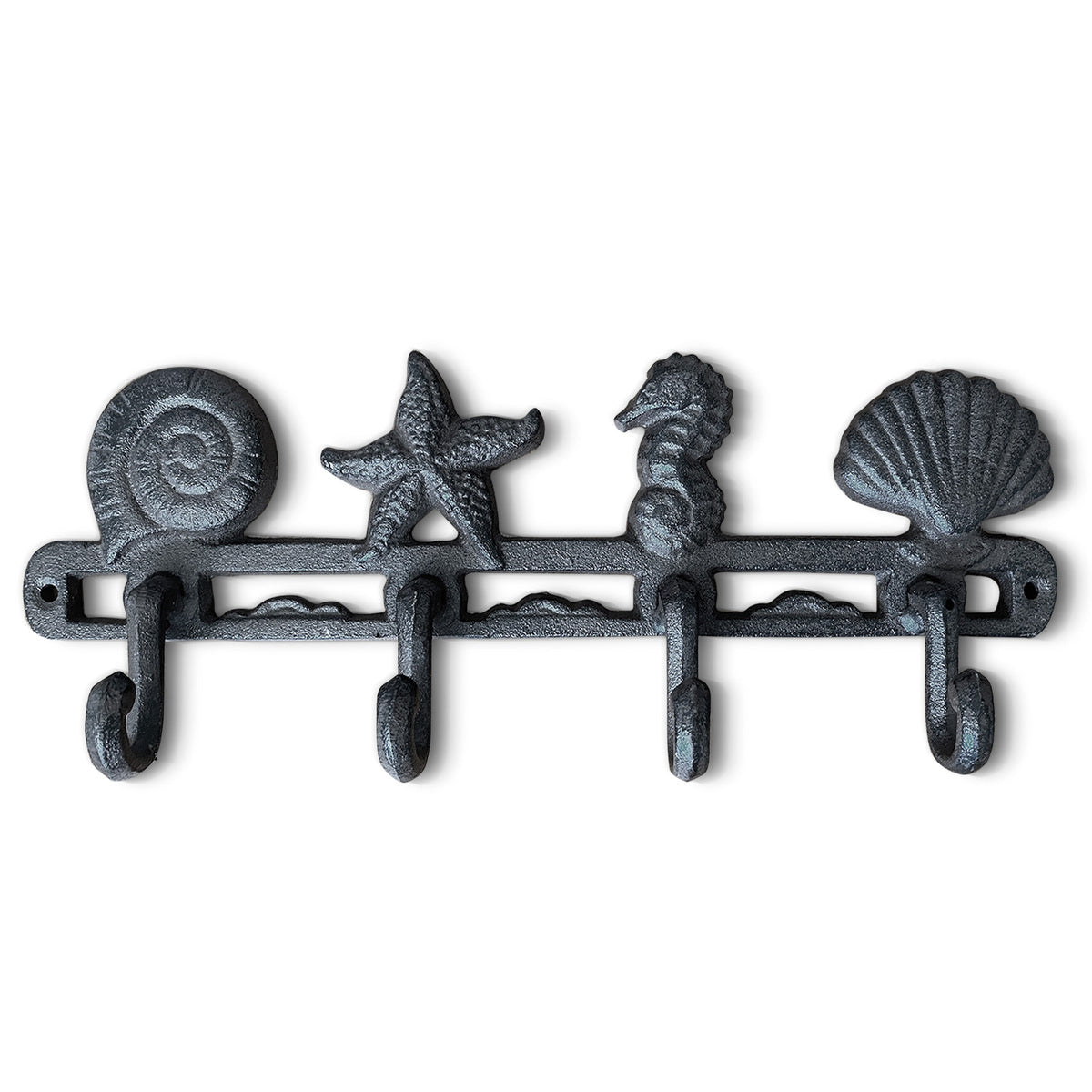 Cast Iron Seashell Hooks, 13""