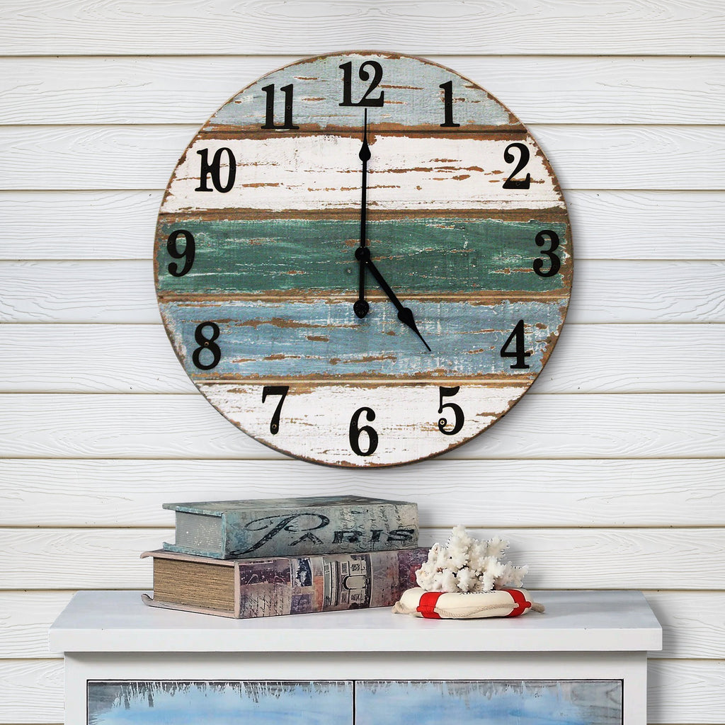 18 inch beach wall clock front