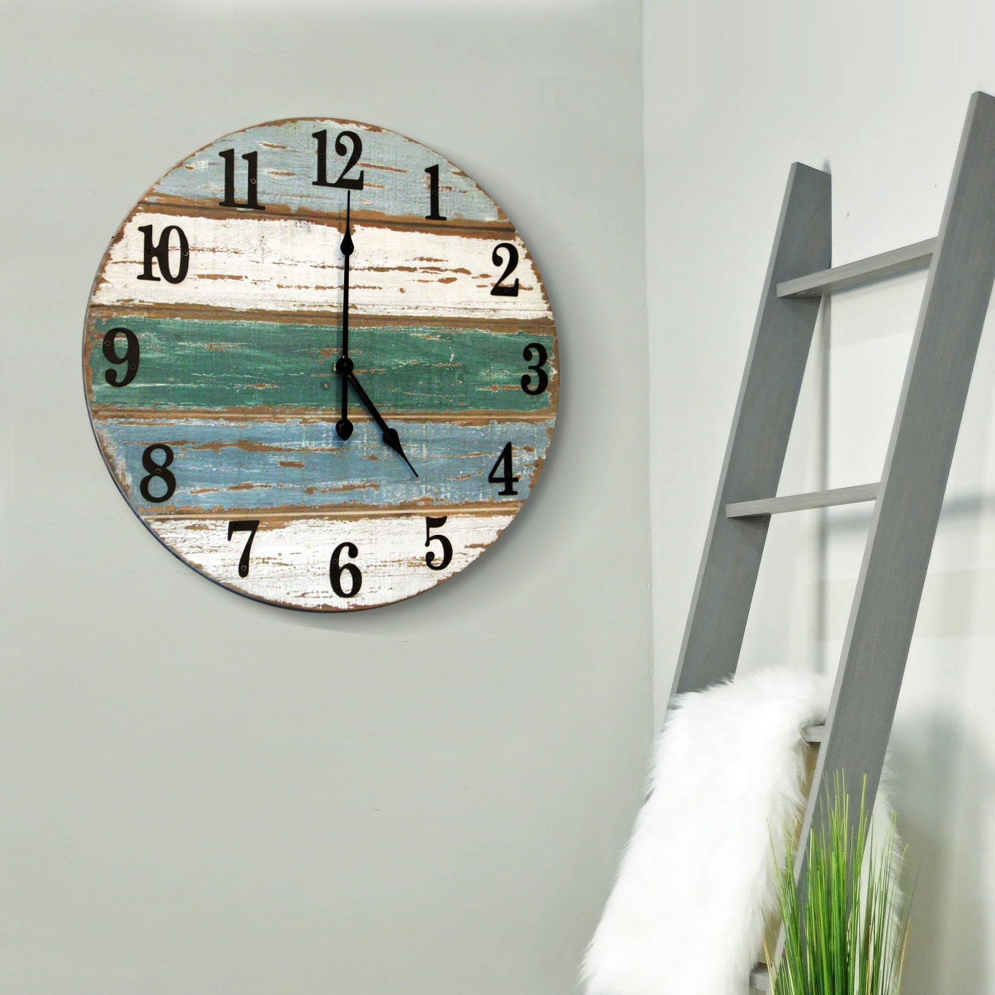 18 inch beach wall clock lifestyle