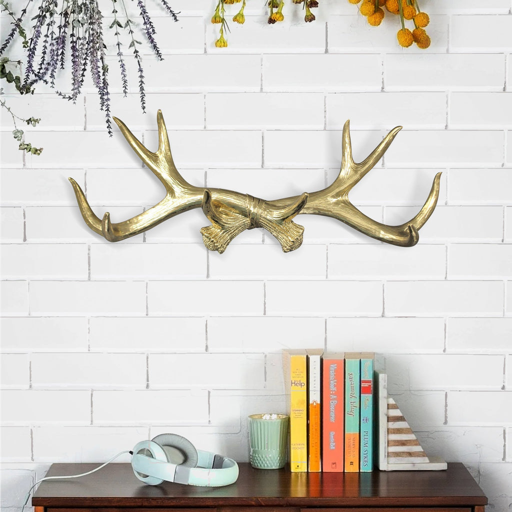 Faux taxidermy antlers, deer antlers, faux deer antlers, antlers wall rack, antlers wall hooks, faux taxidermy, antlers wall mount, farmhouse decor