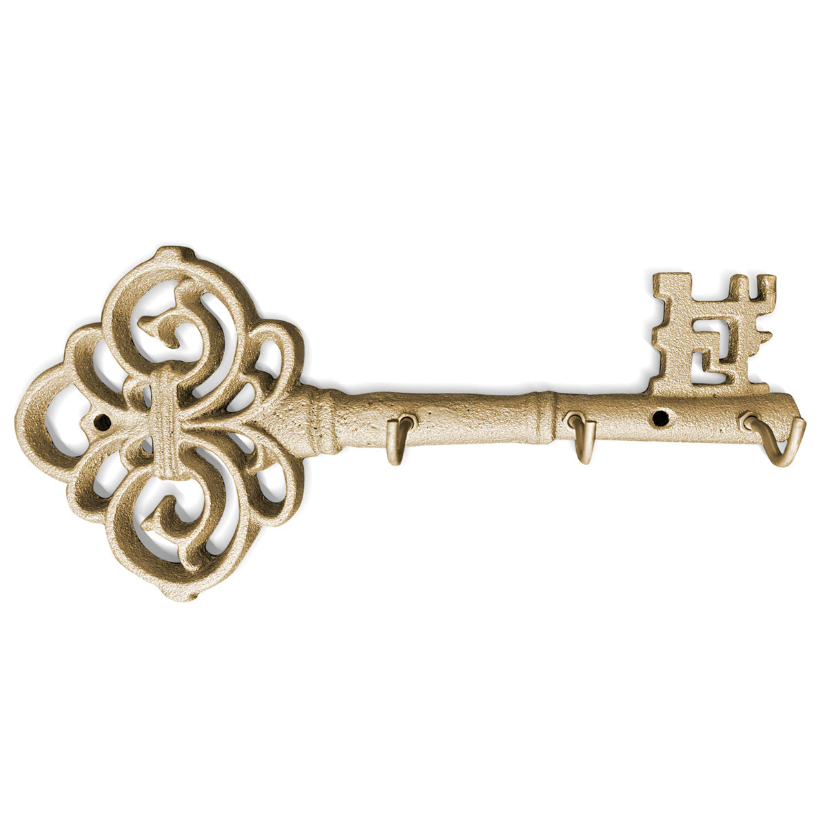 Gold Skeleton Key Wall Hooks, 10""