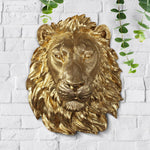 Faux taxidermy lion, faux lion, faux taxidermy, animal head wall mount, farmhouse decor