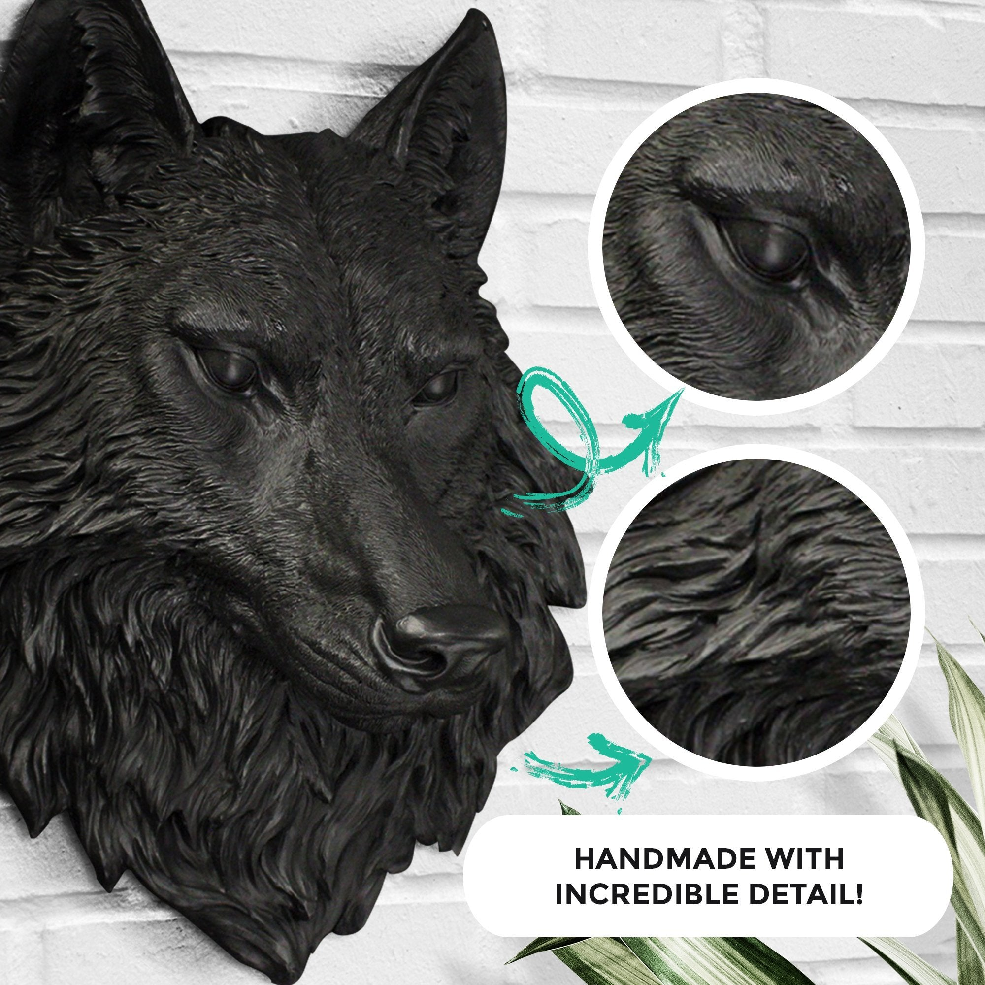 Faux wolf, faux wolf, fake wolf head, animal head wall mount, farmhouse decor