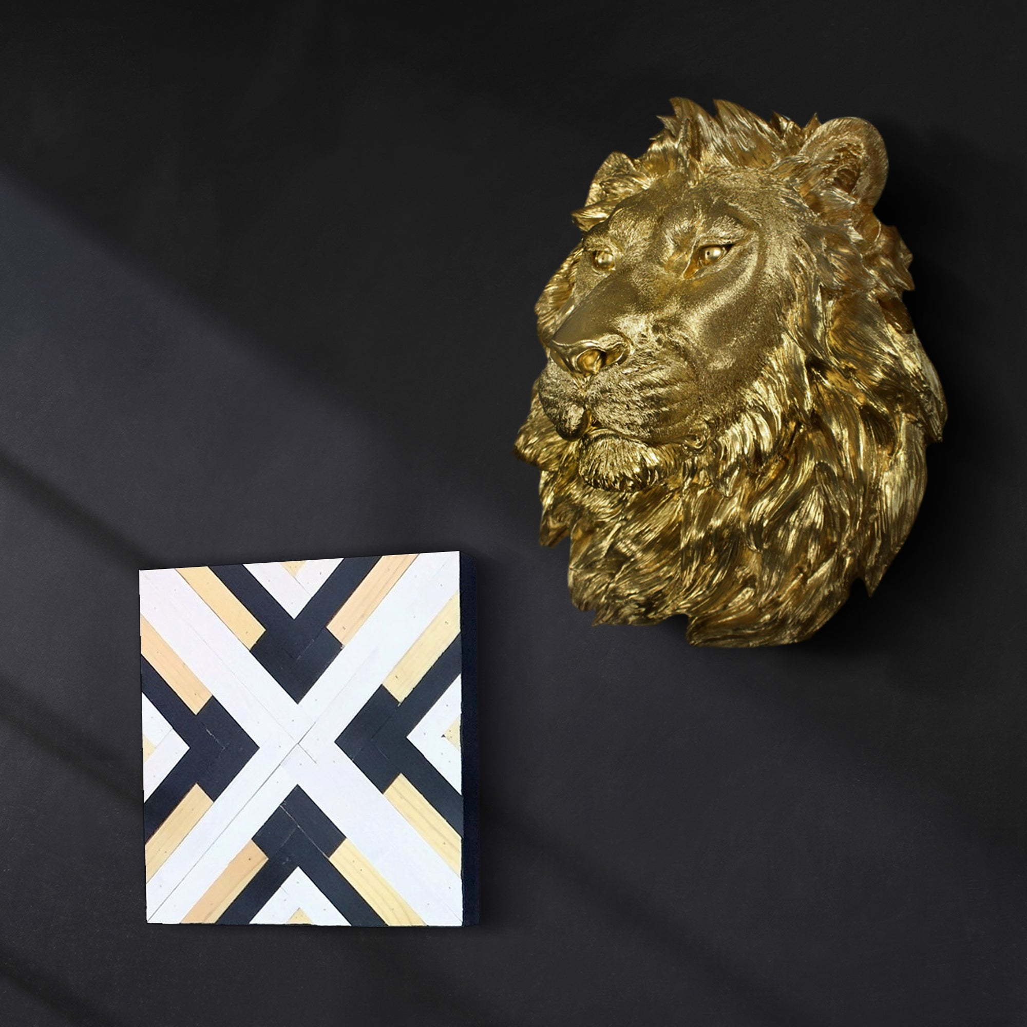 Large Gold Lion, 17""