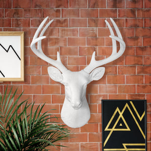 Faux taxidermy deer head, faux deer, faux taxidermy, animal head wall mount, farmhouse decor