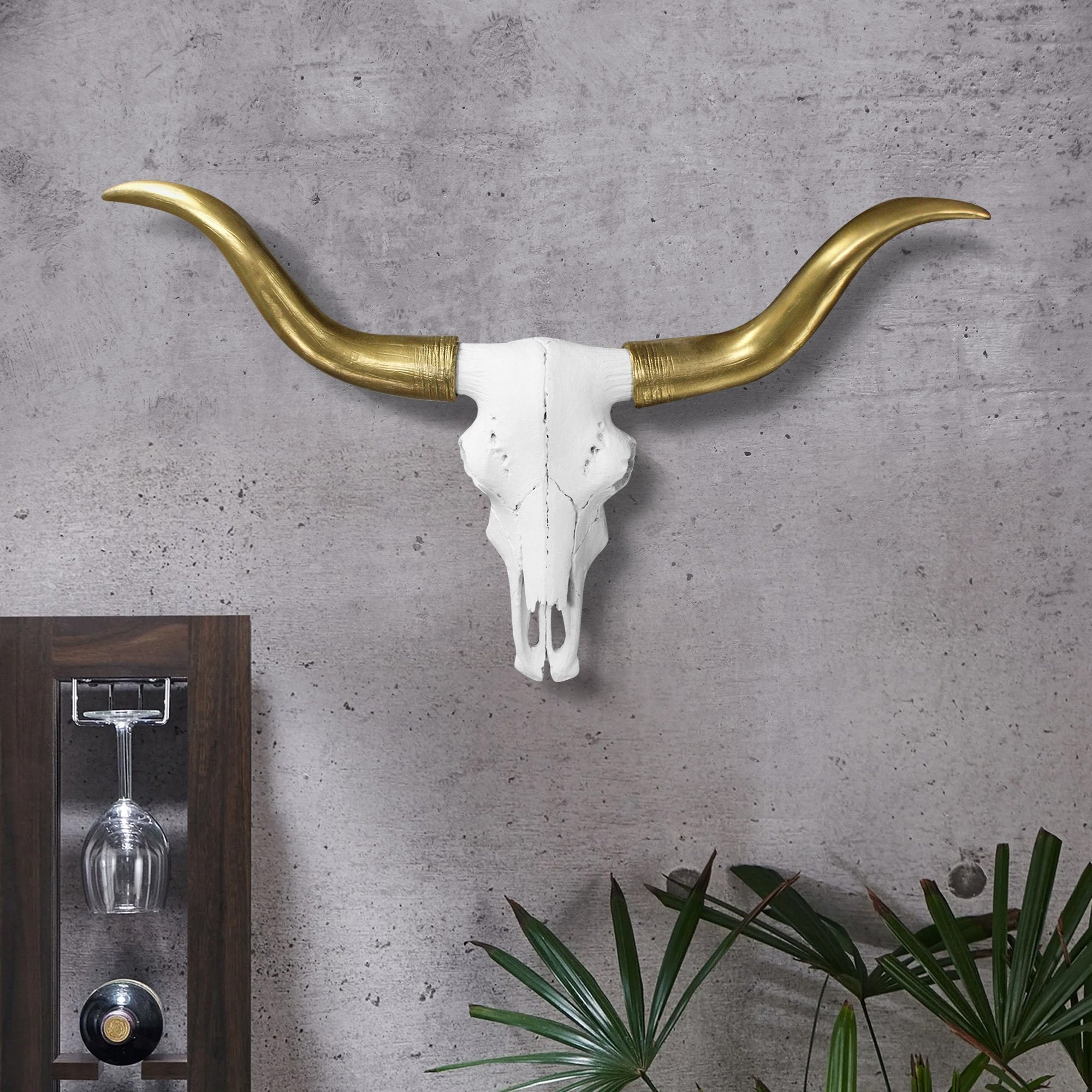 Faux taxidermy longhorn skull, faux longhorn, faux skull, faux taxidermy, animal skull wall mount, farmhouse decor