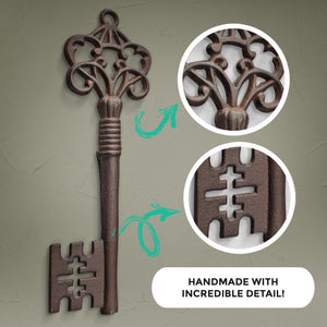 Rustic Bronze Skeleton Key, 14""