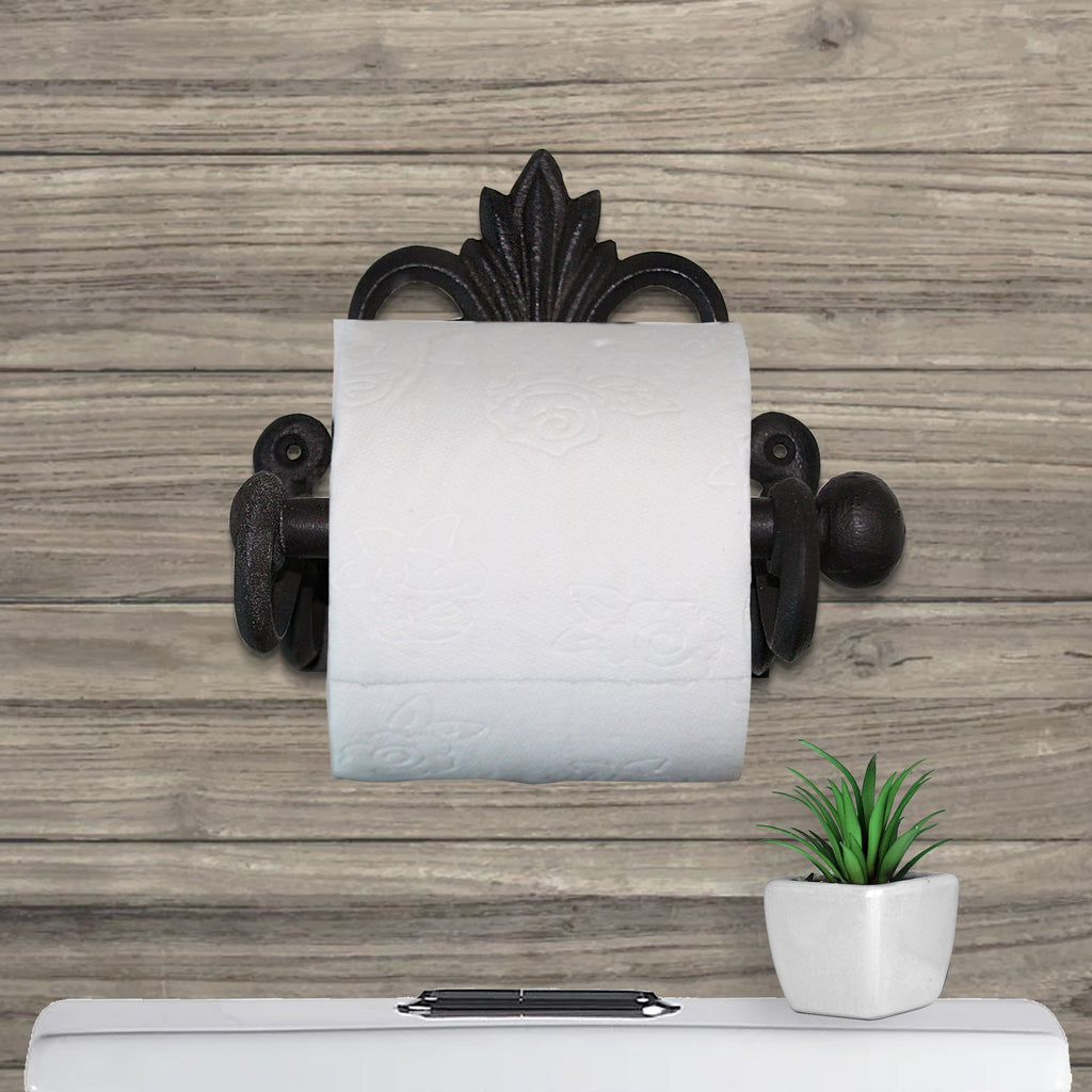 Fleur De Lis Toilet Paper Roll Holder 8.7 inches