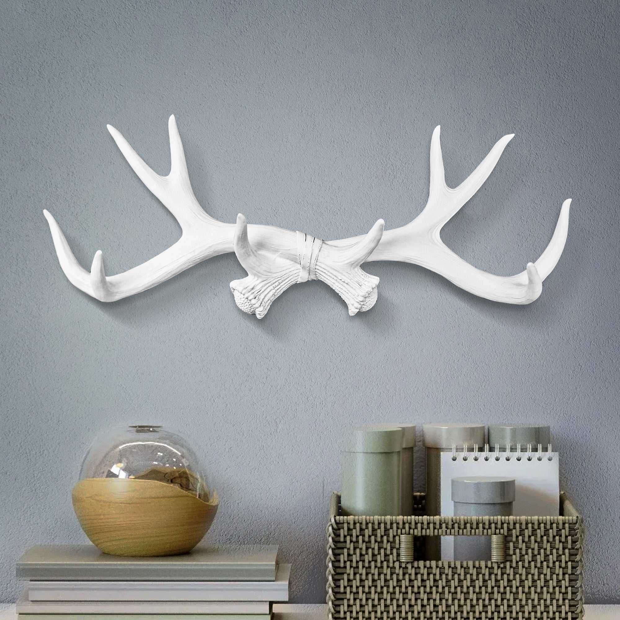 White Antler Wall Rack, 18""