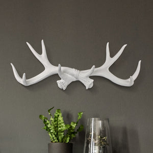 Faux taxidermy antler decor, faux antlers, antlers wall rack, antler hooks, faux taxidermy, wall mount, farmhouse decor