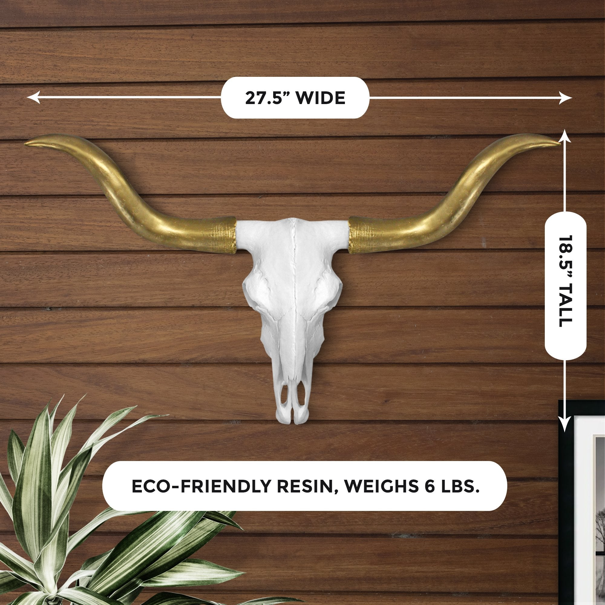 Faux longhorn skull, faux longhorn, fake longhorn skull, animal skull wall mount, farmhouse decor