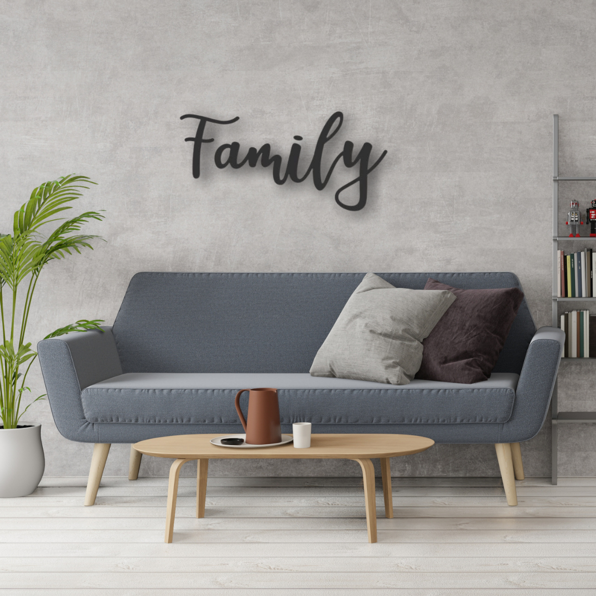 Metal Family Wall Sign, 5 Sizes