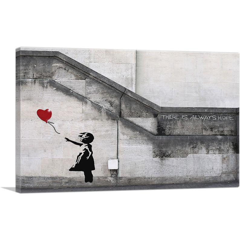 There Is Always Hope Balloon Girl Canvas Art by Banksy
