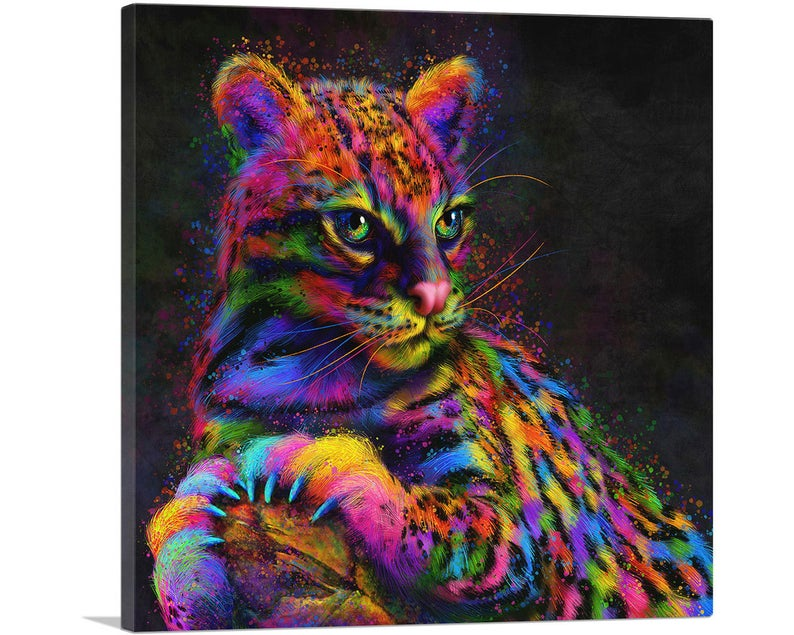 The Wild Ocelot Animal Canvas