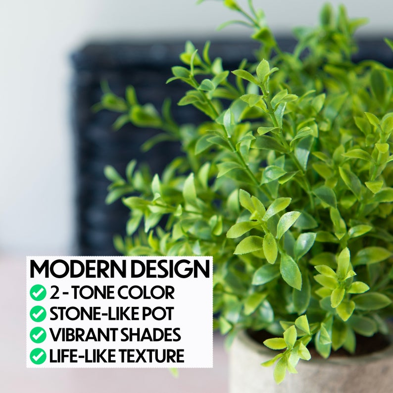 Modern Rosemary Faux Plant
