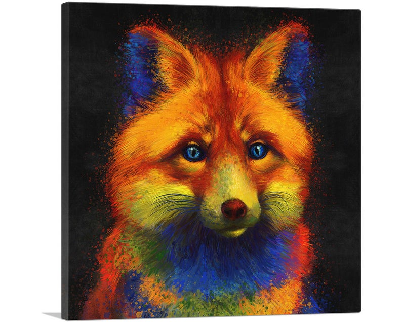 Red Fox Animal Canvas