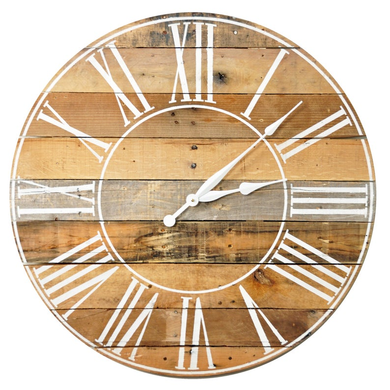 "Oversized Farmhouse Clock, 30"" - 36"""