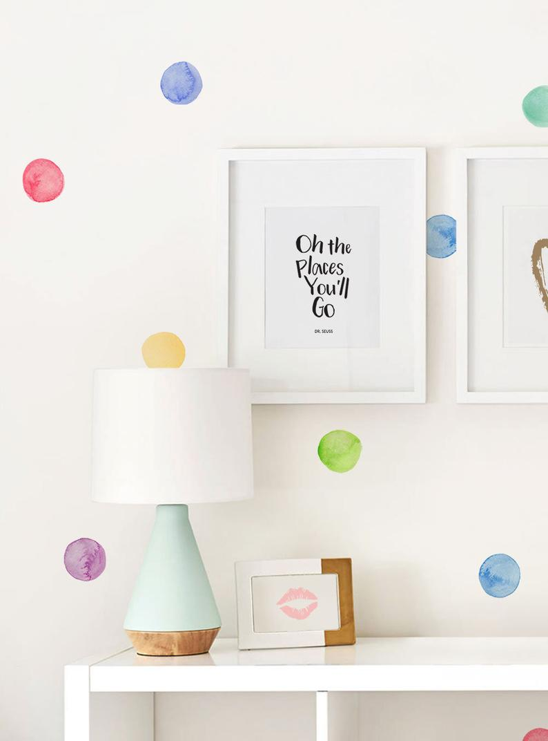 Watercolor Dots Wall Stickers