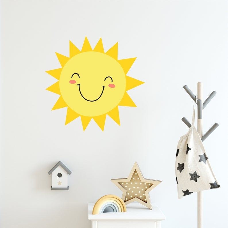 Happy Sun Wall Sticker