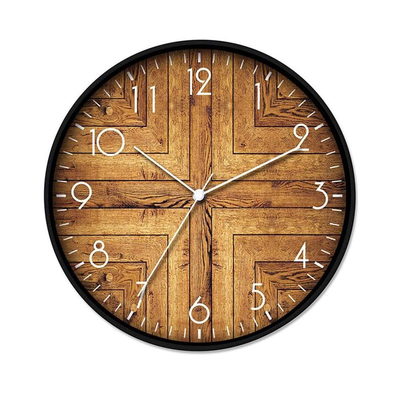 Vintage Rustic Wood Clock, 12""