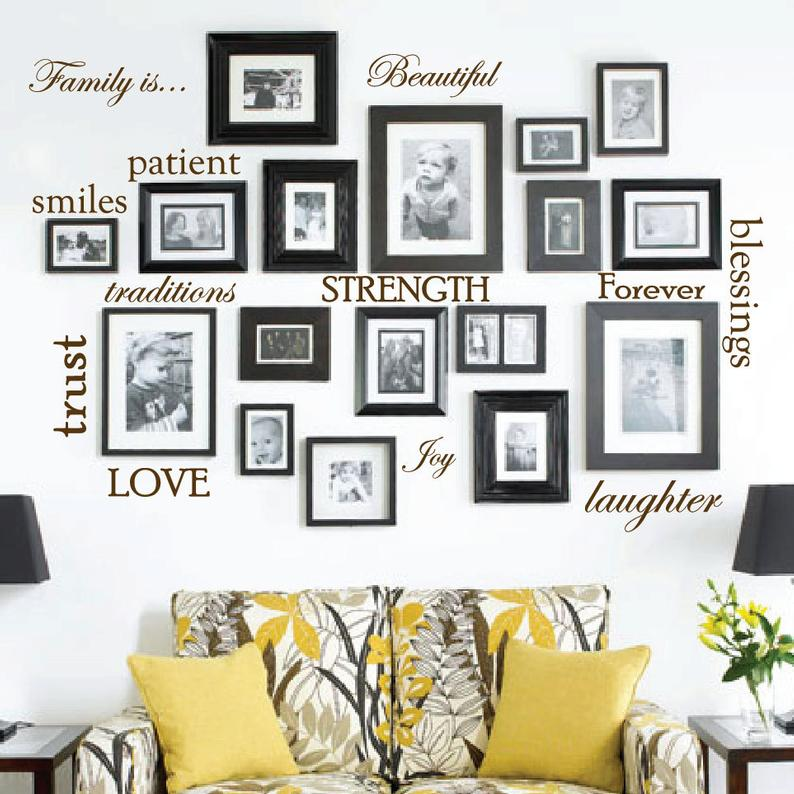 Set of 12 Family Quotes Wall Stickers