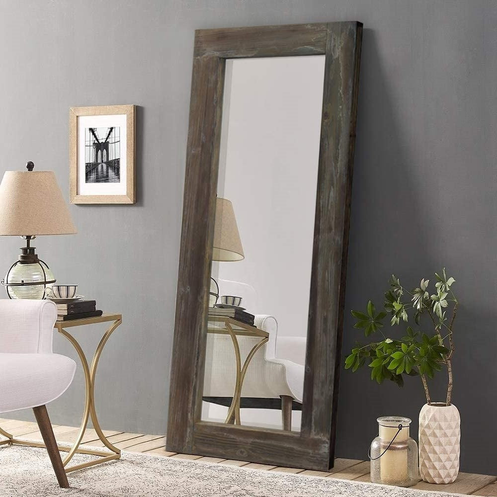 Rustic Full Length Floor or Hanging Wall Mirror, 56""