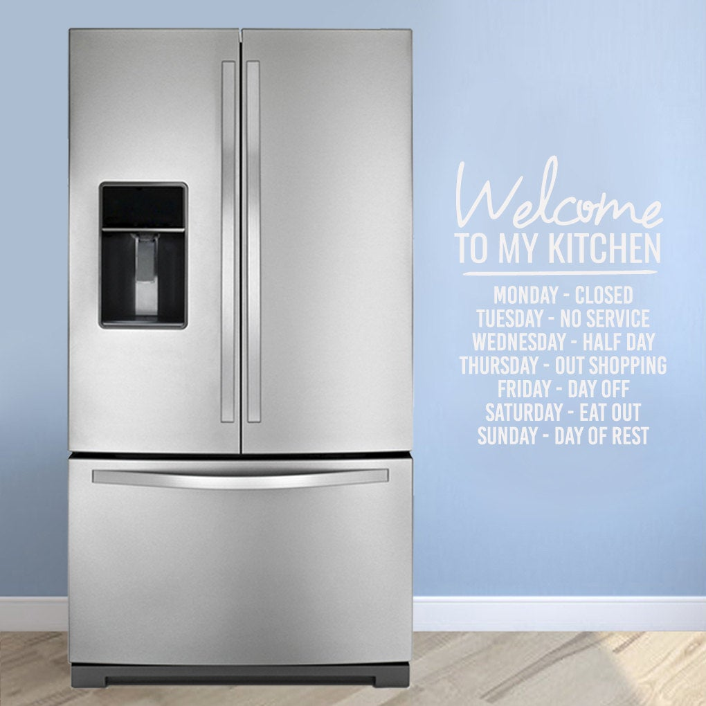 Welcome To My Kitchen Wall Stickers, 2 Sizes