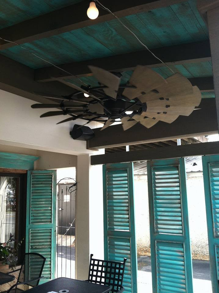 fans ceiling shipping indoor windmill coastal products quorum galvanized fan free lighting