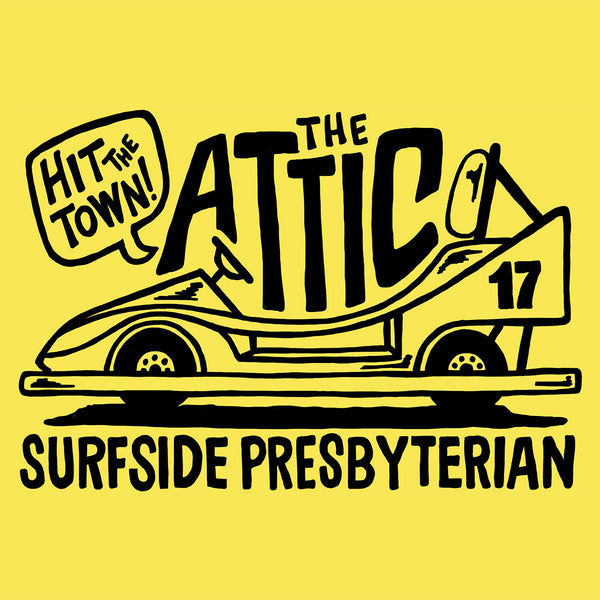 The Attic - Hit the Town! (Surfside Presbyterian) T-shirt design