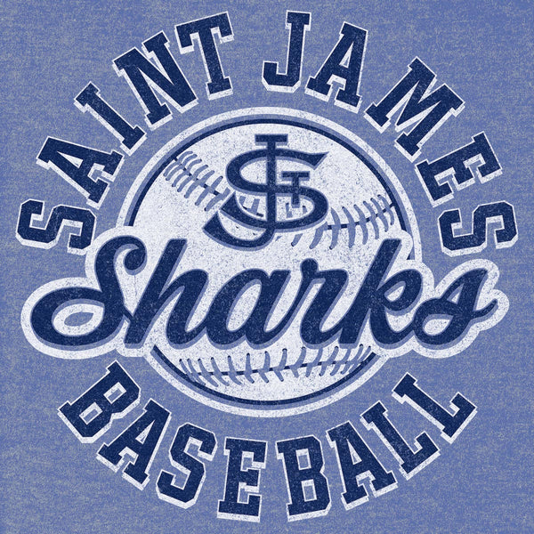 Saint James Sharks Baseball: Custom T-shirt Design