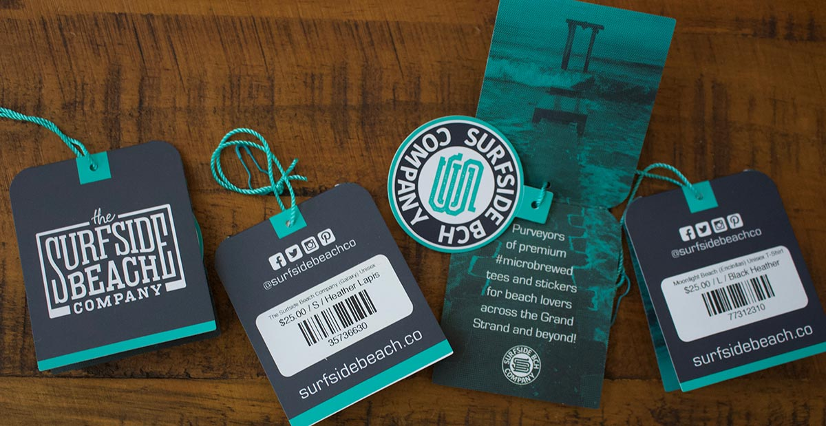Surfside Beach Company hangtags