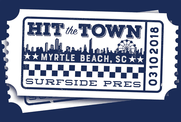 The Attic - Hit the Town! (2018) Custom T-shirt design