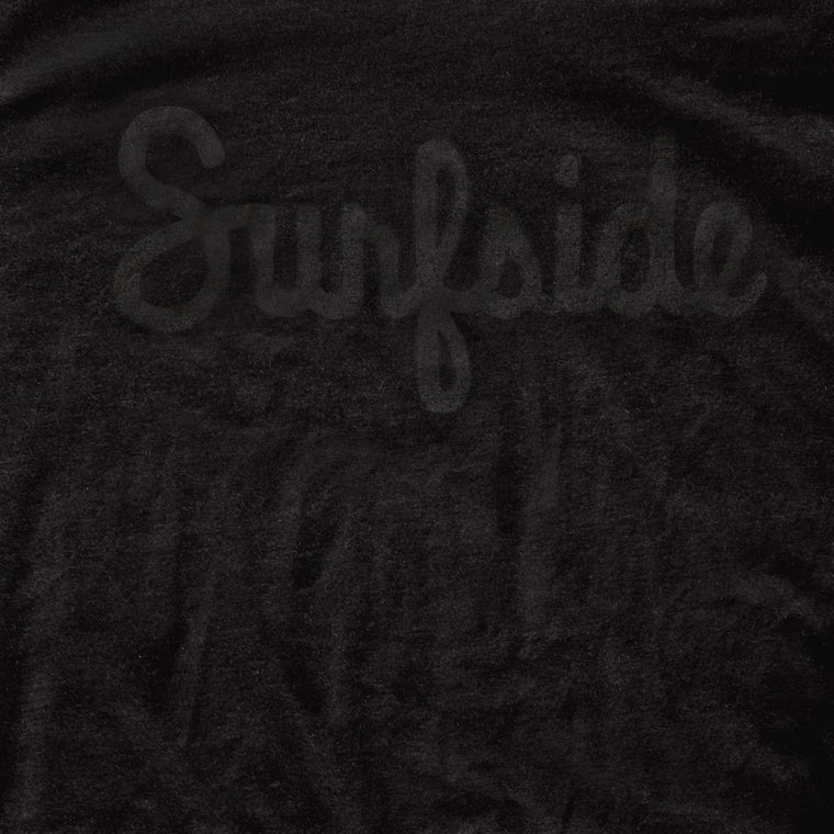 Surfside (Script) premium black-on-black T-shirt zoom