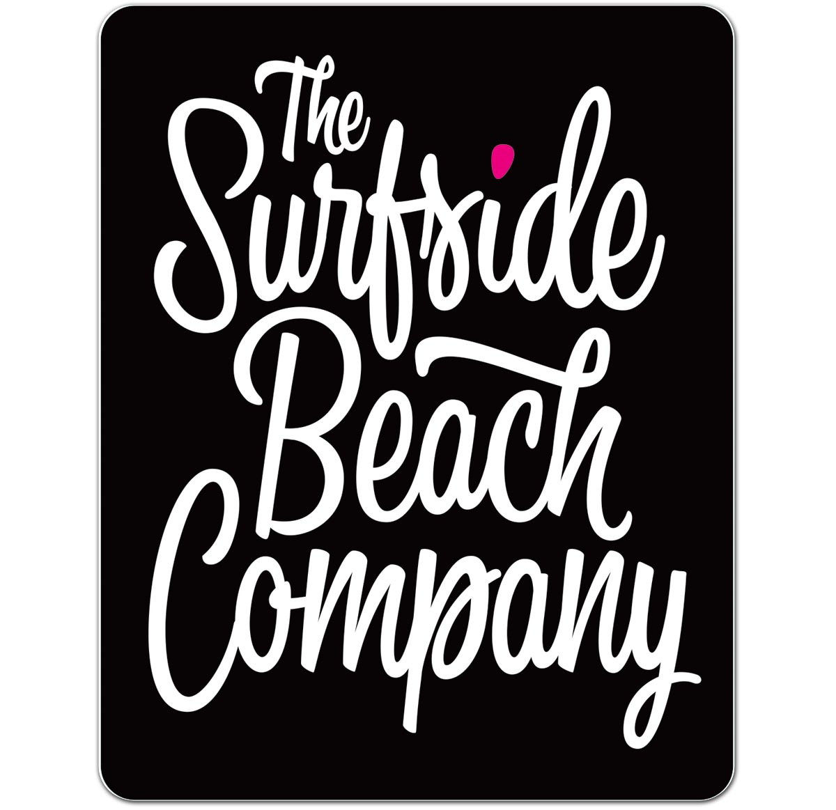 The Surfside Beach Company (Bewitched) die cut sticker