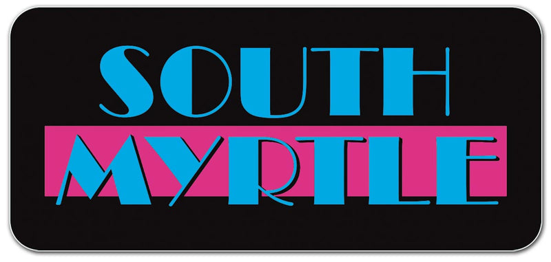 South Myrtle die cut sticker